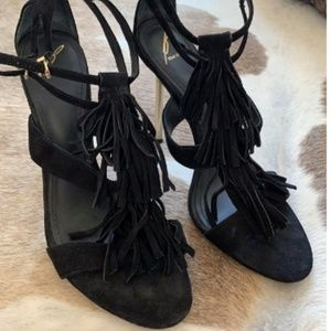 B Brian Atwood Shoes - B Brian Atwood Suede Fringe Heels